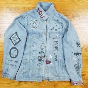 VTG Denim Custom Made All Over Arts Jean Jacket